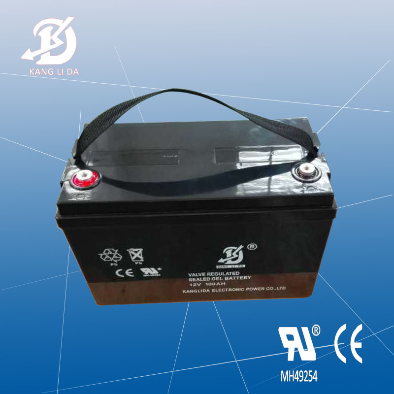 Kanglida Valve regulated maintenance free 12V 100Ah lead acid battery with battery charger