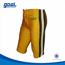 High quality polyester spandex standard fit customized stripe sublimation American football pants