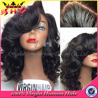 Aliexpress wholesale virgin human hair full lace wig factory direct product