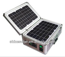 Solar panel system 30W Foldabel and Portable Solar Power/Energy Home System Kits