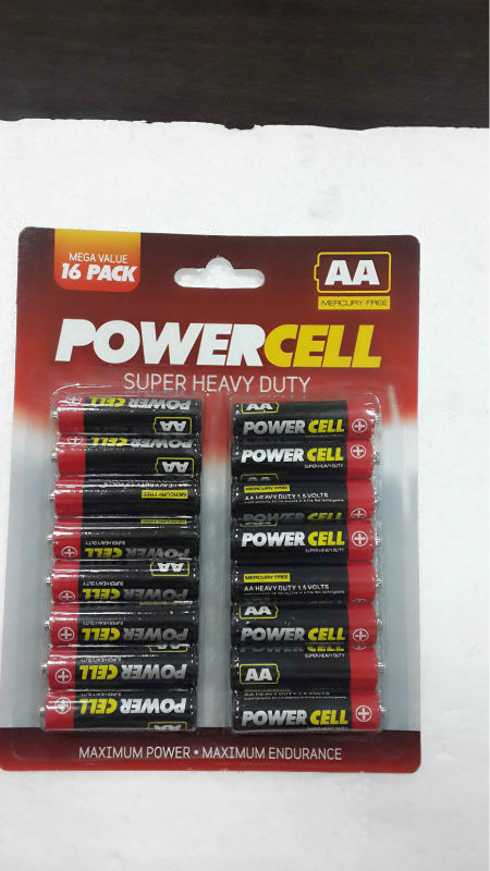 R6P battery 1.5v UM3 battery AA size battery with sunmol brand