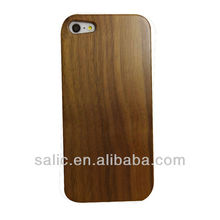 Walnut wooden cell phone case for iPhone 5
