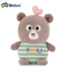 2017 new design Metoo brand cartoon bear animal promotion soft plush toys