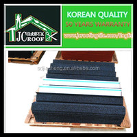 Low price good building materials stone coated metal roofing tiles
