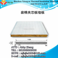 China supply rock wool sandwich board for roof panels