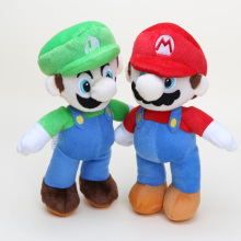 10'' New Super Mario Bros Stand LUIGI Plush Doll Stuffed Toy
