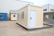 Professional flat package cafe flat pack box install container house