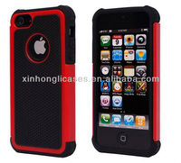 hybrid case for iphone5 Triple Layer Protector Silcone / Rubber and Plastic