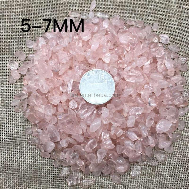 Wholesale Reiki Healing Rose Quartz Crystal Tumbled Stones Crystal Chips
