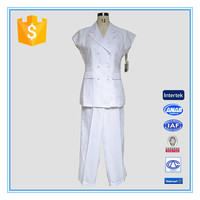 Ladies Formal Pant Suits For White Ramie