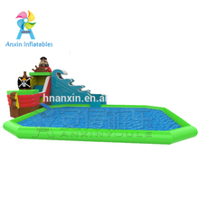 Inflatable Games Cheap Inflatable Pirate Ship Water Slide On The Mobile Water Amusement Park