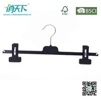 Betterall Black Thin Cheap Plastic Pants Hanger Clips