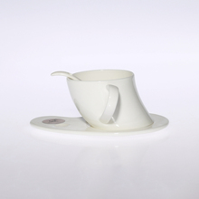 Special design tea tray ceramic and saucer water drinking cup with spoon