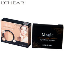 LCHEAR brand Hot sale three color waterproof eyebrow powder with stamp seal cosmetics Natural Eyebrow powder
