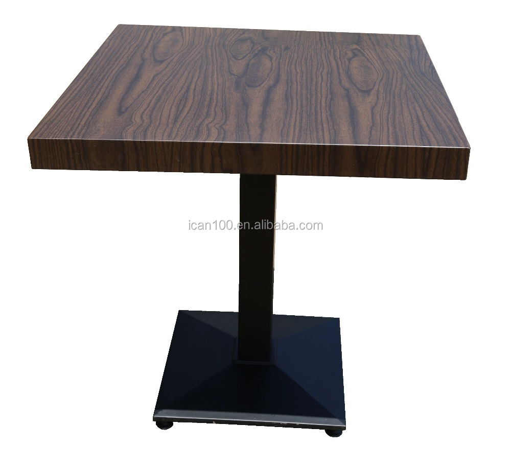 2016 Newly Restaurant Square Aluminum Artificial Pine Table Top