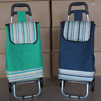 600D Polyester Folding Shopping Trolley/Mini Wheeled Market Trolley Bag/Folding Shopping Trolley Bag