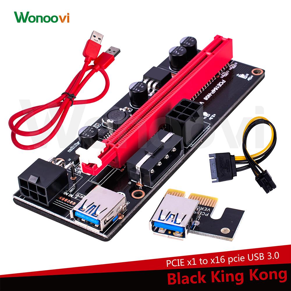 Pci Express X1 Adapter Usb 30 Riser Kabel Bitcoin Asic Miner Zu