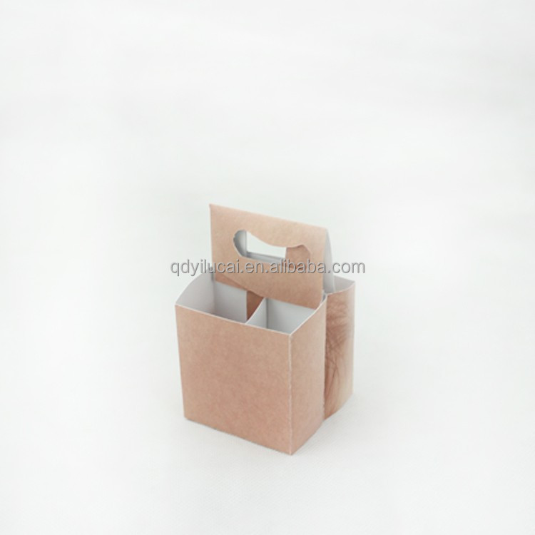 customized size cardboard beer holder box 4 pack bottle beer carriers