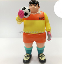 OEM goalkeeper action figure/cartoon football player figure maker/Custom OEM plastic figure toy