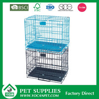 Folk Art Indoor galvanized steel dog kennel