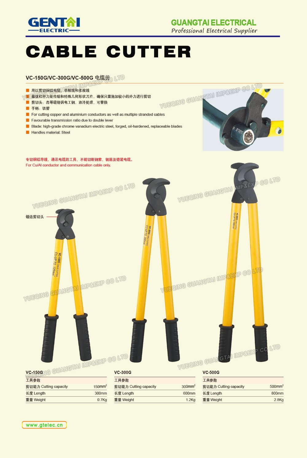 150mm RATCHET CABLE CUTTER 4-300MM HYDRAULIC CRIMPING RATCHET CABLE CUTTER TOOL