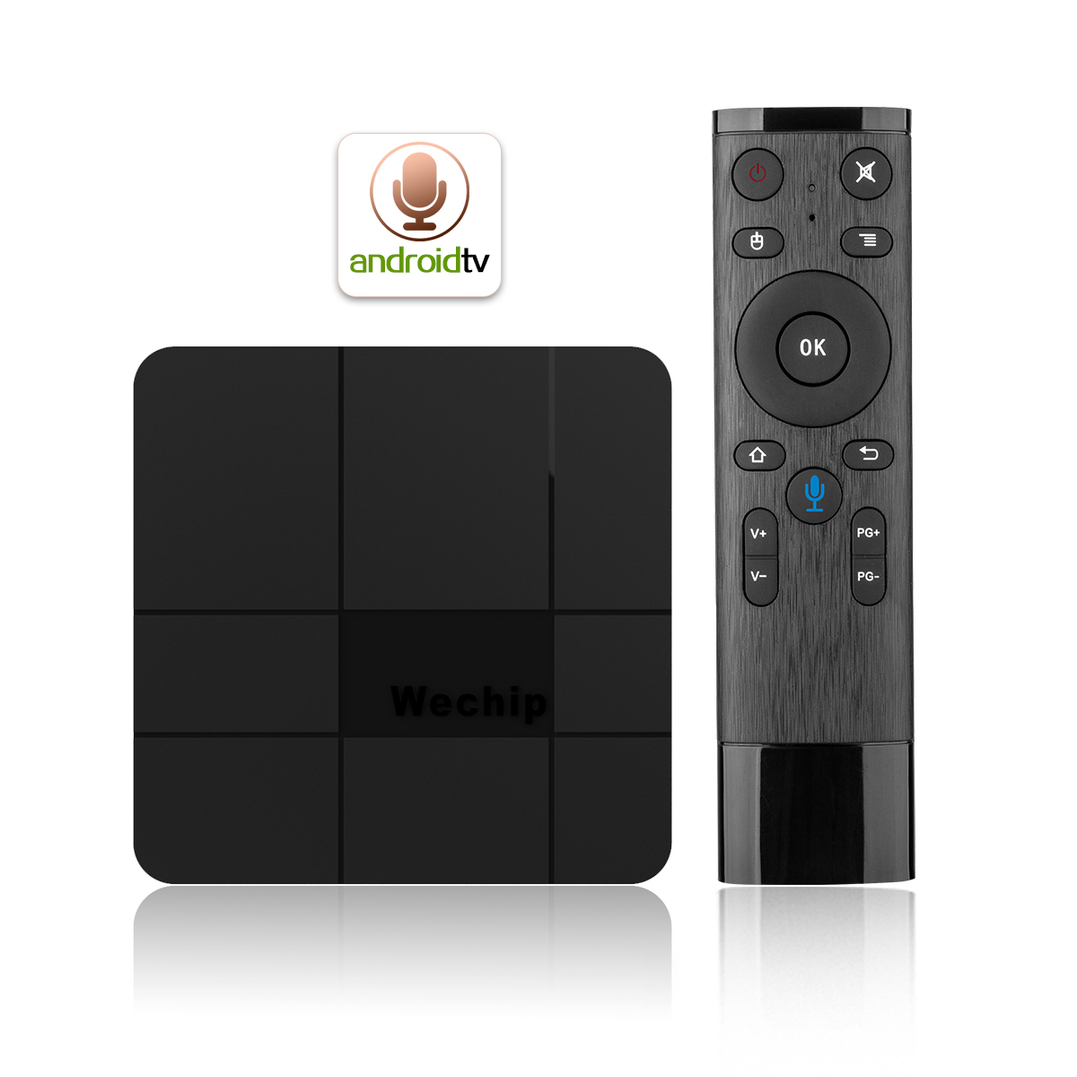 Set top box wechip v8 plus Android 7.1 smart TV box 2G 16G V8 voice control system android box tv