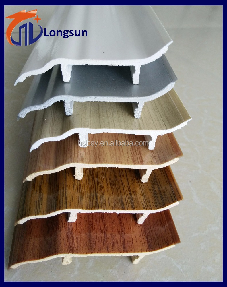 Waterproof building materials plastic molding baseboard types