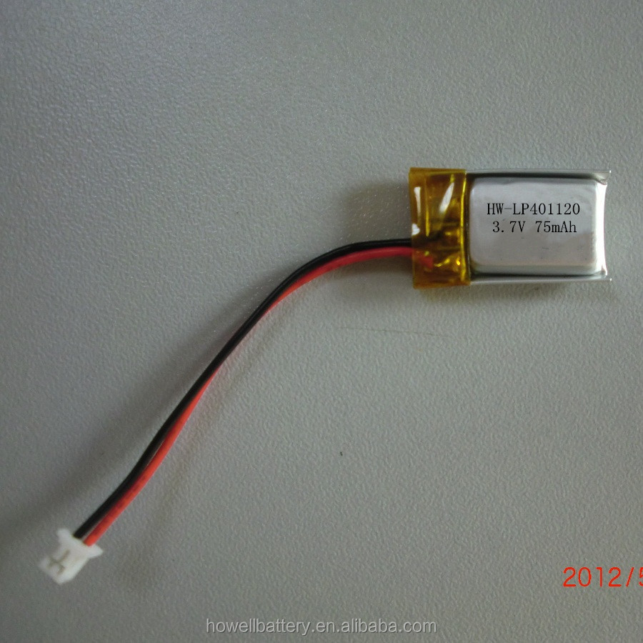 Lithium Polymer Rechargeable Battery 3.7V 75mAh