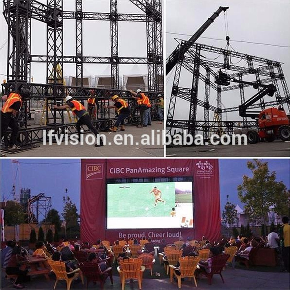 large indoor panel display p4.8 led screen curve p6 Outdoor rental video wall