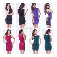 Latest design striped mesh bodycon dress adult hot sexy photos mini dress