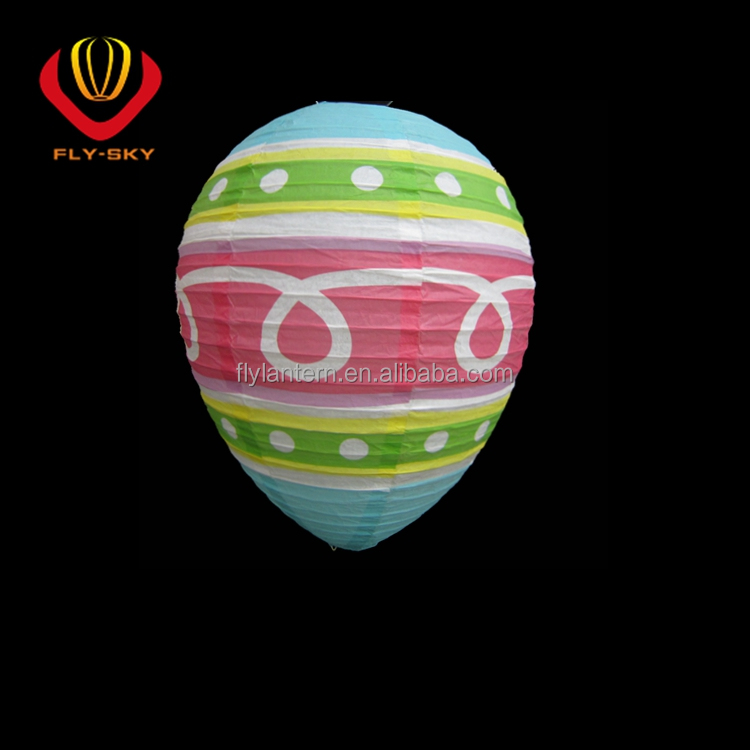 Factory direct sale Chinese colorful round paper lantern Eggs shape lantern