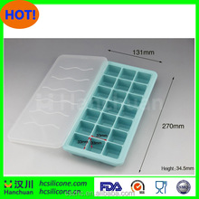 OEM ODM Custom Silicone Covered Ice Cube Tray With Freezer Cap Mould