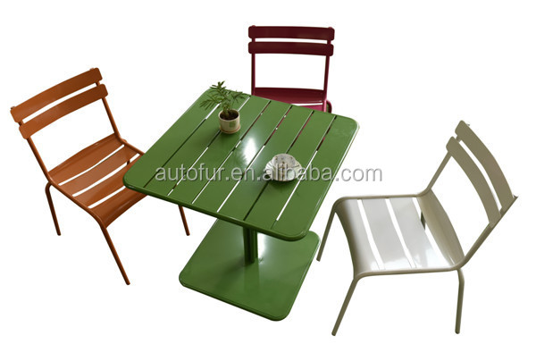 Industrial Metal garden table and chair,tolix bar dining chair42