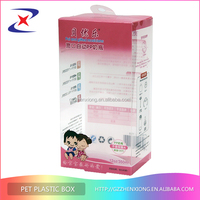 Environment friendly clear pvc packaging transparent plastic packaging box for personal care products