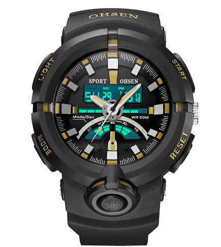 OHSEN AD1702 Fahion Silicone LED Digital Back light Chronograph Wristwatches Luxury Brand Sport Watches Men