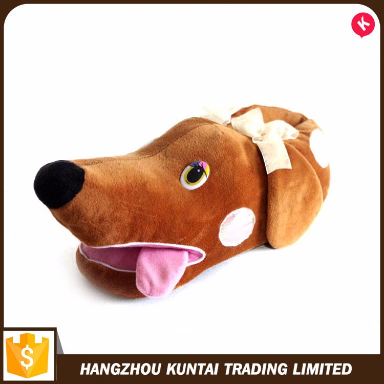 Factory sale various widely used Animal Indoor cartoon slippers with ear bounce up