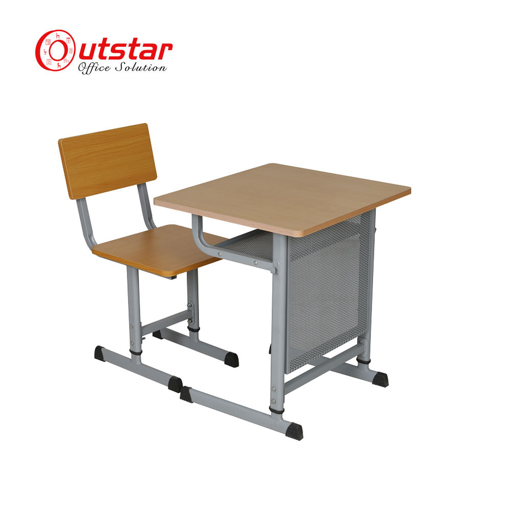 Steel Pipe Frame Double Seat Student Desk And Bench - Buy Single ...