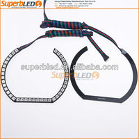 Multicolor changing square rings 115mm 5050smd led angel eyes for bmw F30 style E90E92E93 headlight