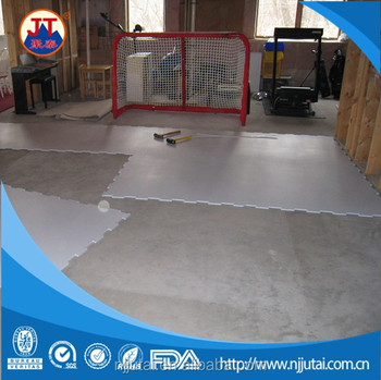White PE synthetical ice rink hocky shooting pad