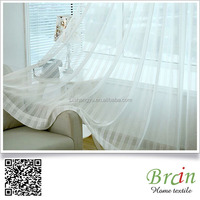 Light Weight White Color Polyester Blend Sheer Curtain Fabric