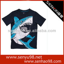 Embroidery patch design custom private logo promotional kid promotion t-shirt