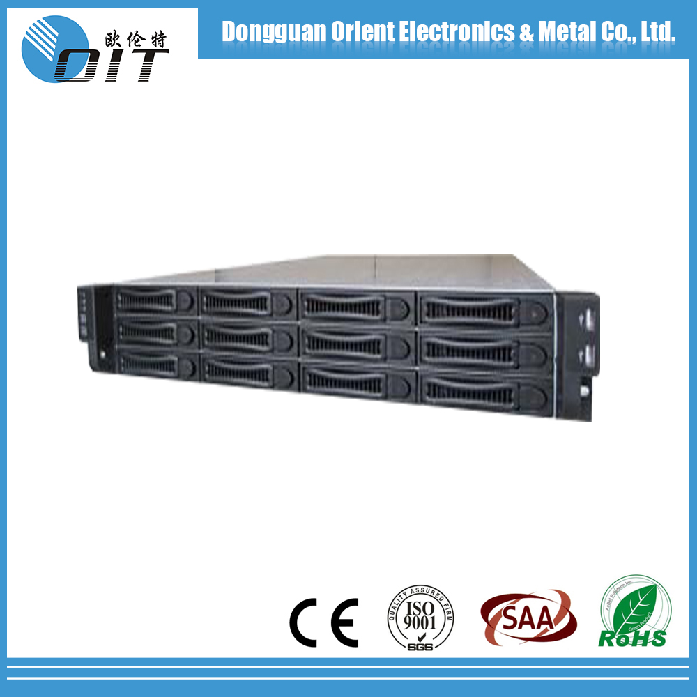 Dongguan factory OEM custom 2U Fans optional Rack Mounted ATX Server Case