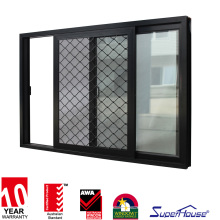 aluminum windows and doors euro standard double glass alumnium windows with safety grill