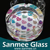 Crystal Glassware Factory Direct Hot Promotional Round Ashtray,Glass Ashtray Custom