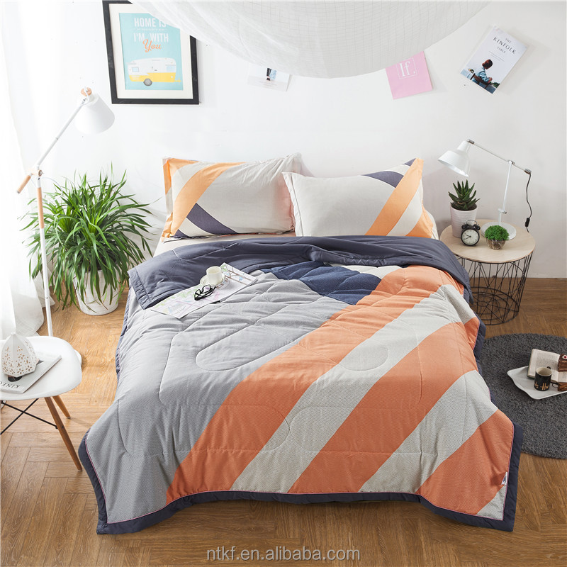 Super soft cotton printed luxury summer thin quilt <strong>set</strong>