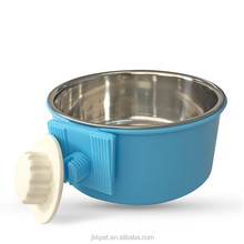 2018 Durable Dog Bowl Pet Feeding Tool Hanging Stainless Steel Food Container Drink Water Bowl Dish Accessory for Pet