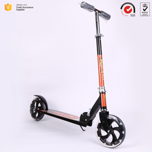 Newest design OEM acceptable Euramerican style durable Aluminum alloy folding 2 PU big 200mm wheels adults portable scooter