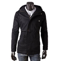 Onenweb w Alibaba China suppliers 3 colors for choice men long style windbreaker