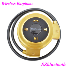 Factory wholesale low cost wireless stereo sport bluetooth headset support MP3 and FM radio player