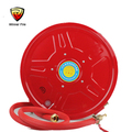 Manual adjustable garden hose reels with coupling